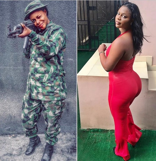 army girl birthday 4 - These Stylish Birthday Pics Of Endowed Nigerian Female Soldier Has Got Many Talking (Twerk Video
