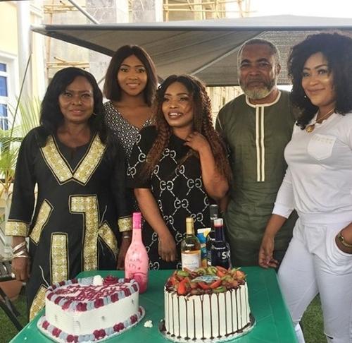Popular Nollywood Actress Halima Abubakar Marks Birthday On Set With Zack Orji, Uche Elendu, Lilian Esoro (Photos)