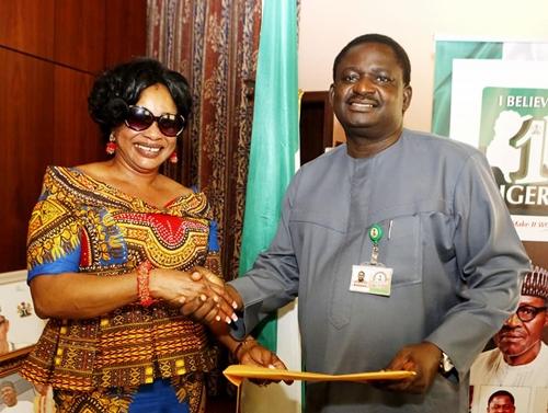 Nollywood Actress, Clarion Chukwurah All Smiles As She Visits Aso Rock (Photos)