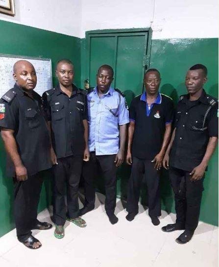 Accused policemen