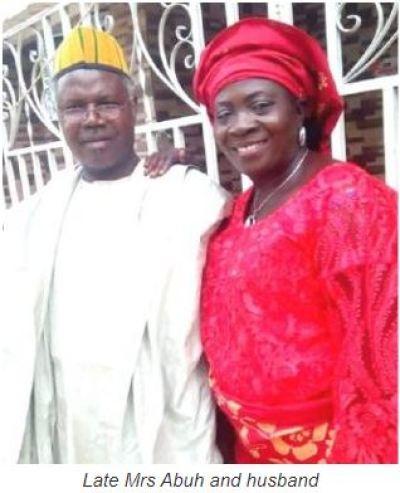 Mrs. Salome Acheju Abuh, husband