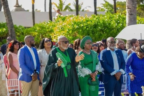 Governor Akeredolu threw a destination wedding for his daughter