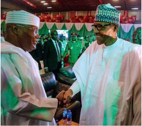 Buhari, Atiku Shake Hands At Second Peace Accord (Photos) 1