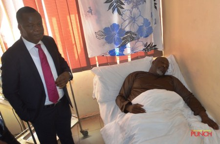 Senator Dino Melaye Pictured In Hospital, Claims Unfit To Attend Court 1