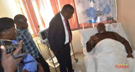 Senator Dino Melaye Pictured In Hospital, Claims Unfit To Attend Court 2