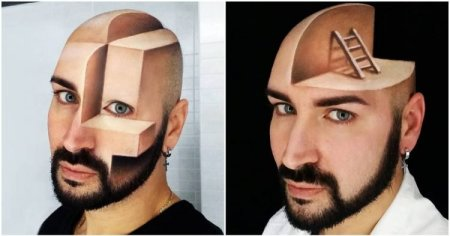 Wow! Meet The Talented Makeup Artist Who Turned His Face Into 3D Optical Illusions (Photos) 1