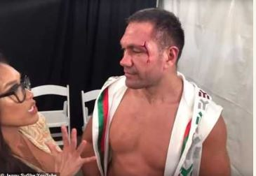 Bulgarian Boxer, Kubrat Pulev Fined, Banned After Kissing Female Reporter (Photos+Video) 2