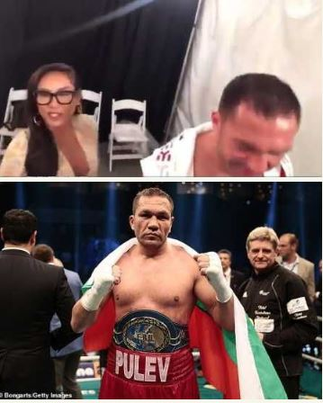 Bulgarian Boxer, Kubrat Pulev Fined, Banned After Kissing Female Reporter (Photos+Video) 3