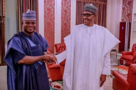Yahaya Bello and President Buhari