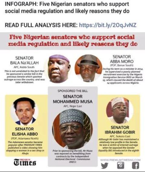 The five senators who support the controversial social media bill