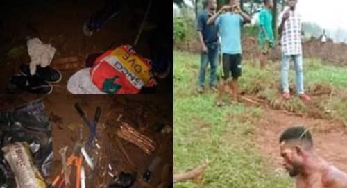 The vandals were beaten to death
