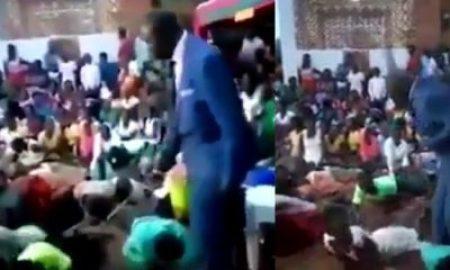 Pastor flogs church members