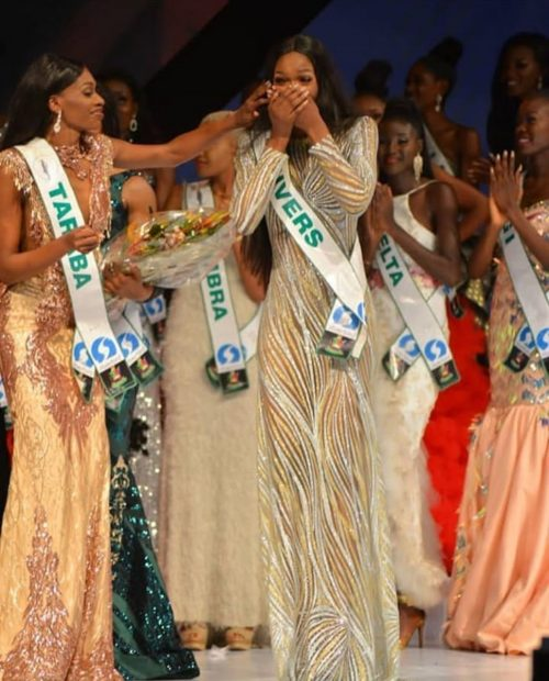 Nyekachi Douglas: the moment she was declared the winner