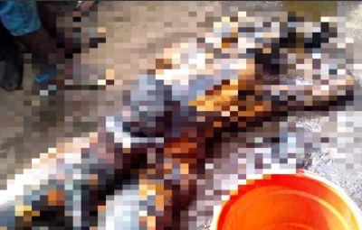 Tears Flow As Mother And Child Burn To Death In Onitsha Tanker Explosion (Graphic Photo)