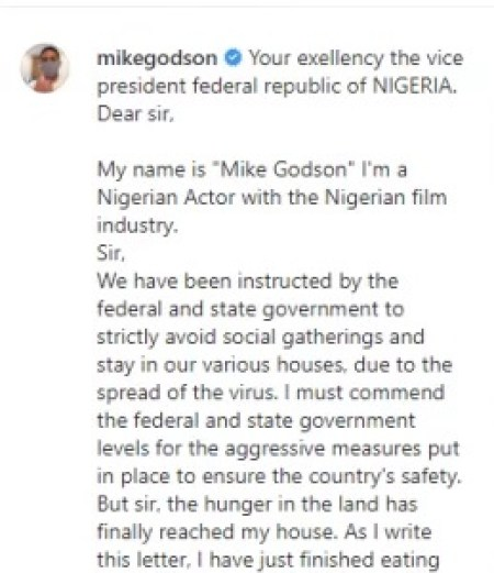 COVID19 Lockdown: 'I Have No Money To Feed' - Popular Nollywood Actor Begs For Food