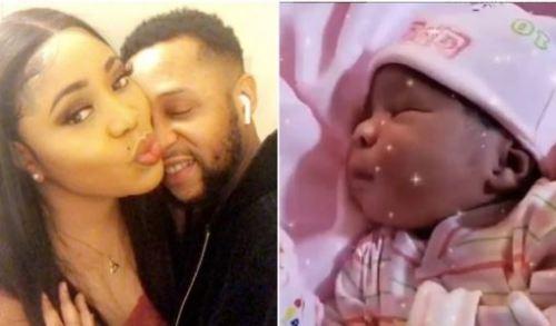 Nigerian actor Sunkanmi Omobolanle and his wife, Bimbo welcome baby girl