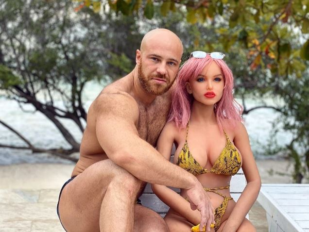 Tolochko and his wife who is a sex doll