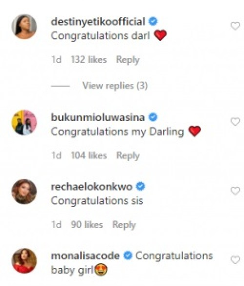 mercy regina0 - Mercy Johnson Ignores Regina Daniels As Different Celebrities Congratulate Her For Giving Delivery