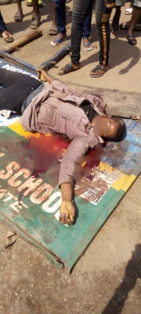 okada%20dead2 - Okada Rider Allegedly Shot Useless By Police Officer For Not Carrying A Face Masks In Imo (Graphic Pictures)