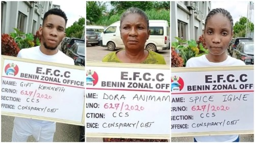 ken1 - Uniport Undergraduate, His Mom And Girlfriend Arrested For Web Fraud, See Images Of Their Costly Automobiles