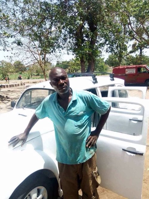 Modibo - Gifted Nigerian Man Converts Volkswagen Beetle Into Rolls Royce Reproduction (Picture)