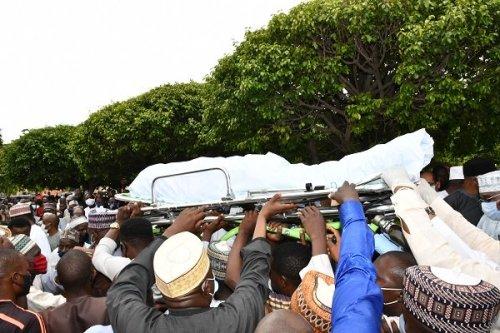 isa2 - Tears As Buhari's Good friend, Isa Funtua Is Buried In Abuja (Images)