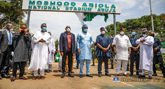 FG Commissions MKO Abiola Stadium In Abuja. 4