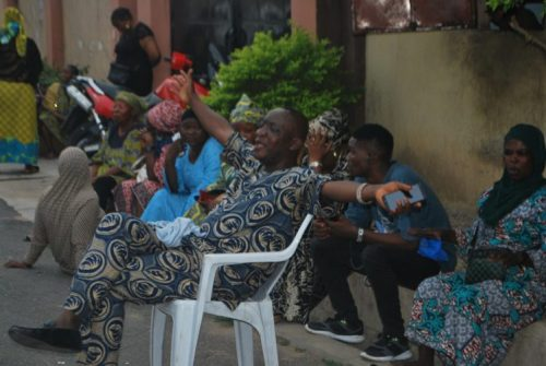 ajimobicry1 - Sympathisers Crying And Wailing At Ajimobi's Residence (Photographs+Video)