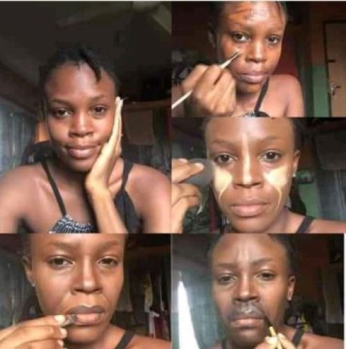 jane3 - Nigerian Make-up Artist Turns Her Face To Buhari (Images)