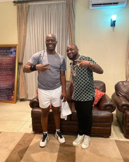 Governor Seyi Makinde Posing With Davido Days Before Testing Positive For Coronavirus