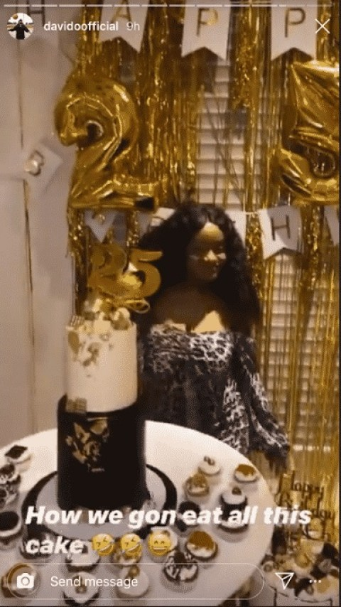 Davido Celebrates With Chioma Her 25th Birthday