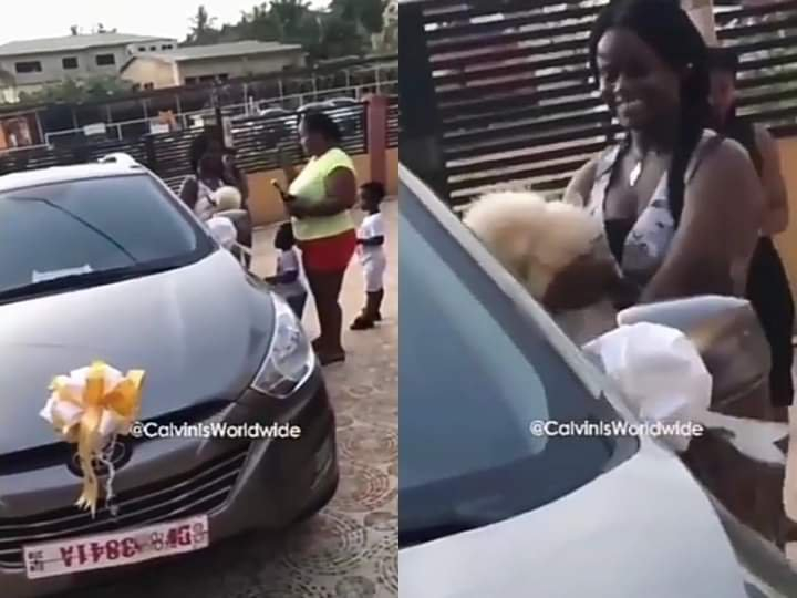 The woman gifted her daughter a car