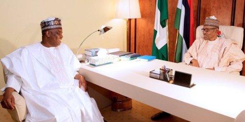 Aminu Tambuwal and President Muhammadu Buhari