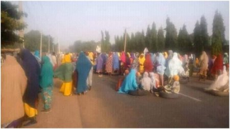 Widows protest