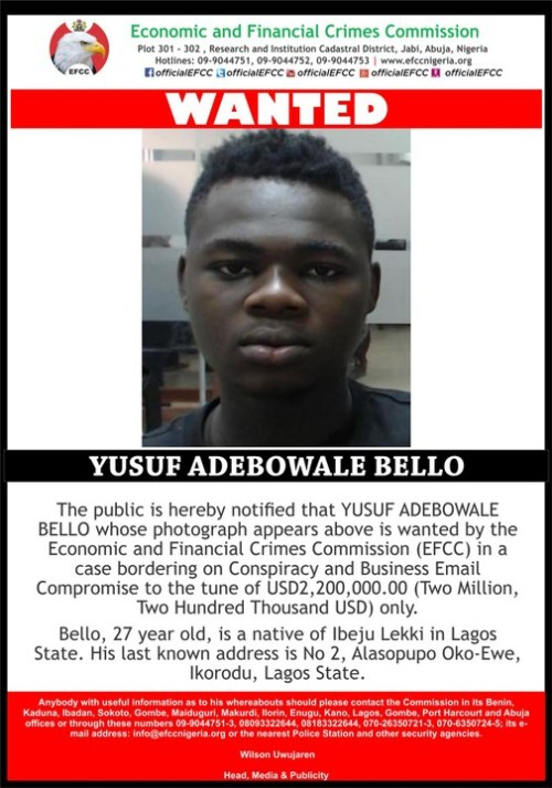 Adebowale declared wanted by EFCC