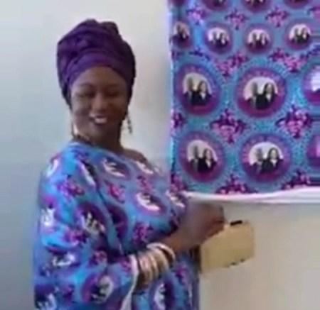 Nigerian Lady Rocks Joe Biden And Kamala Harris'S Aso Ebi, Sprays Dollar Bills To Celebrate Their Inauguration (Video)