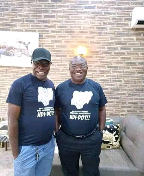 Governor Ikpeazu wearing dot nation t-shirt