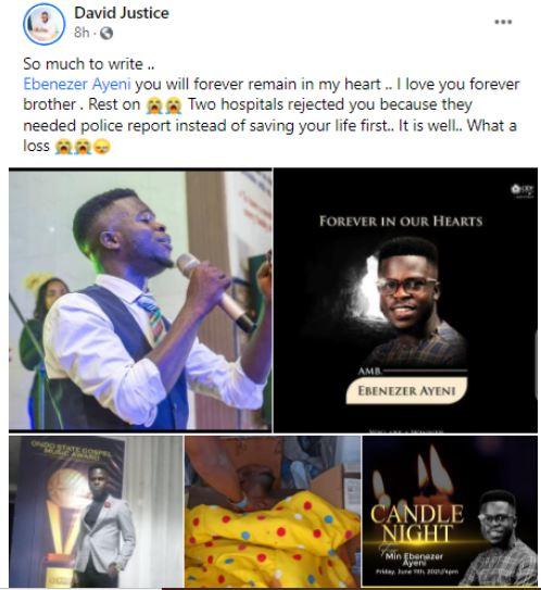 Ebenezer Ayeni dead