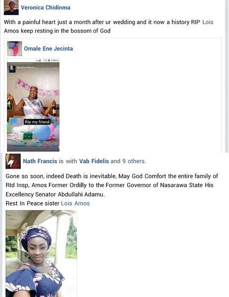 Nigerian Woman Dies Six Weeks After Her Wedding | CmaTrends