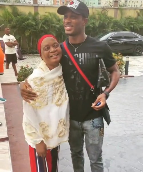 Jude Ighalo and mother