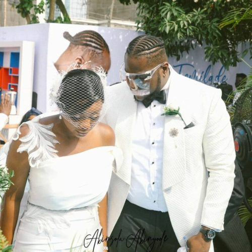 """Even After 2 Kids You Didn't Put Pressure On Me"" – Hypeman, Shody Says As He Marries His Babymama"