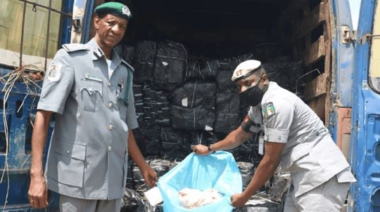 Contraband seized by the Nigeria Customs Service