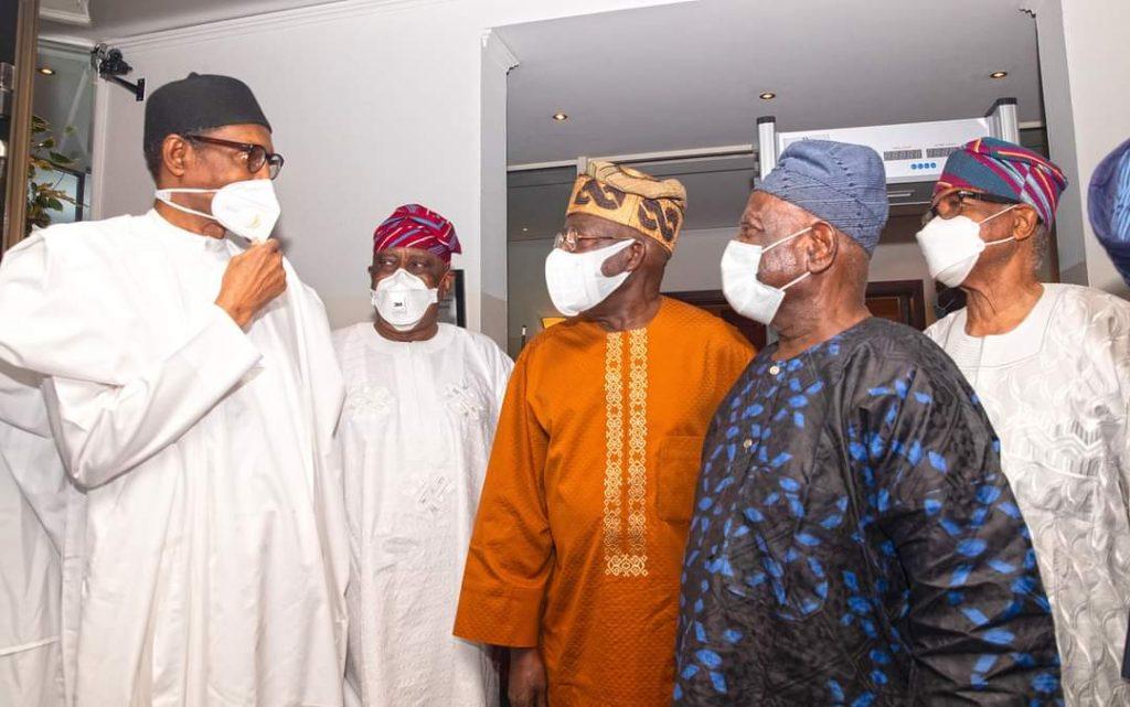 President Muhammadu Buhari meets Bola Tinubu, Akande and others