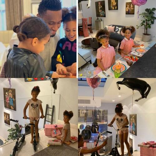 Mikel Obi celebrates twin daughters