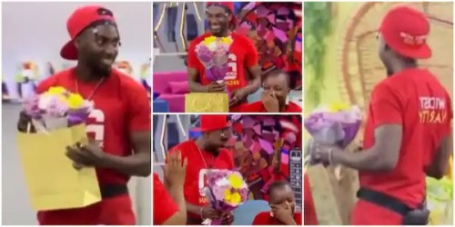Jaypaul gives Saskay flowers as sign of his love