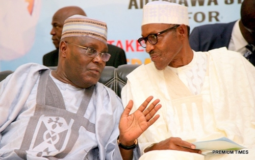 Image result for Atiku absent as presidential candidates sign peace accord in Abuja