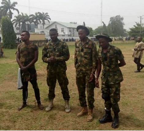 Four Armed Fake Soldiers Arrested While Escorting 'Politician' In Imo (Photo) 1