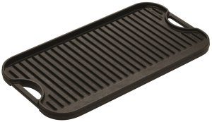 A cast iron griddle.