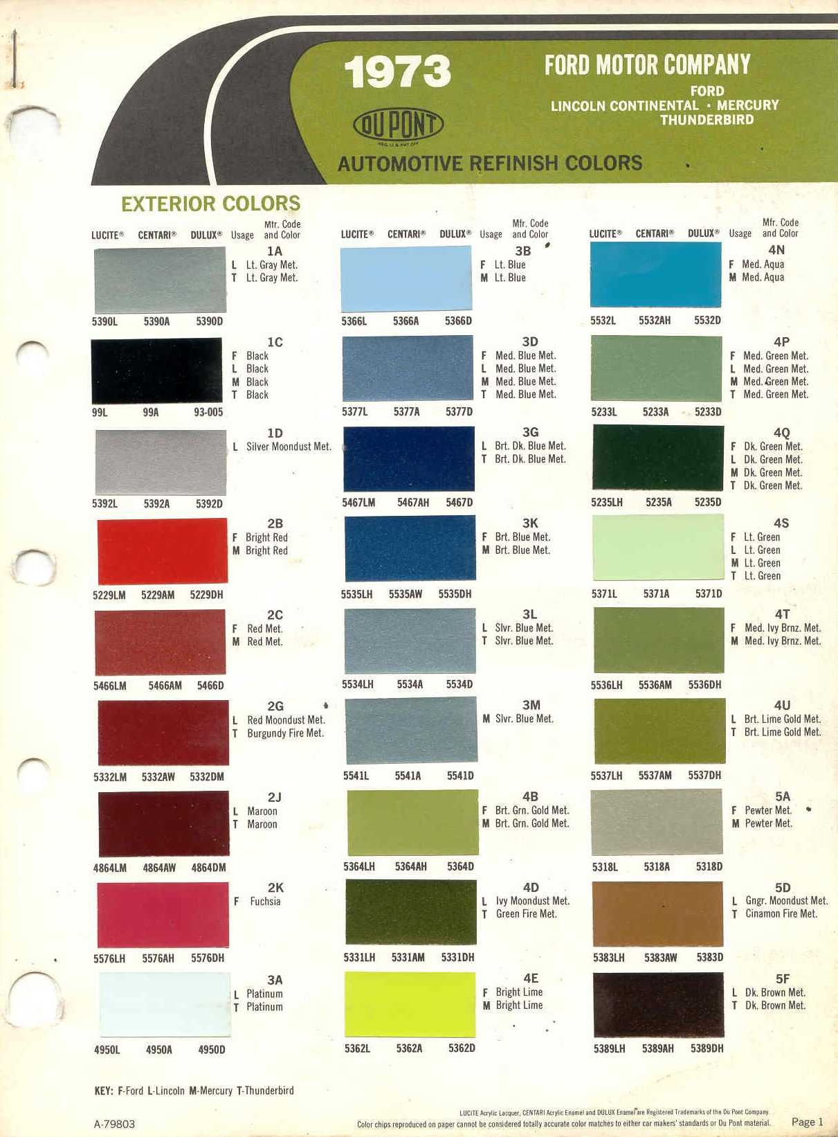 Torino Paint Colors