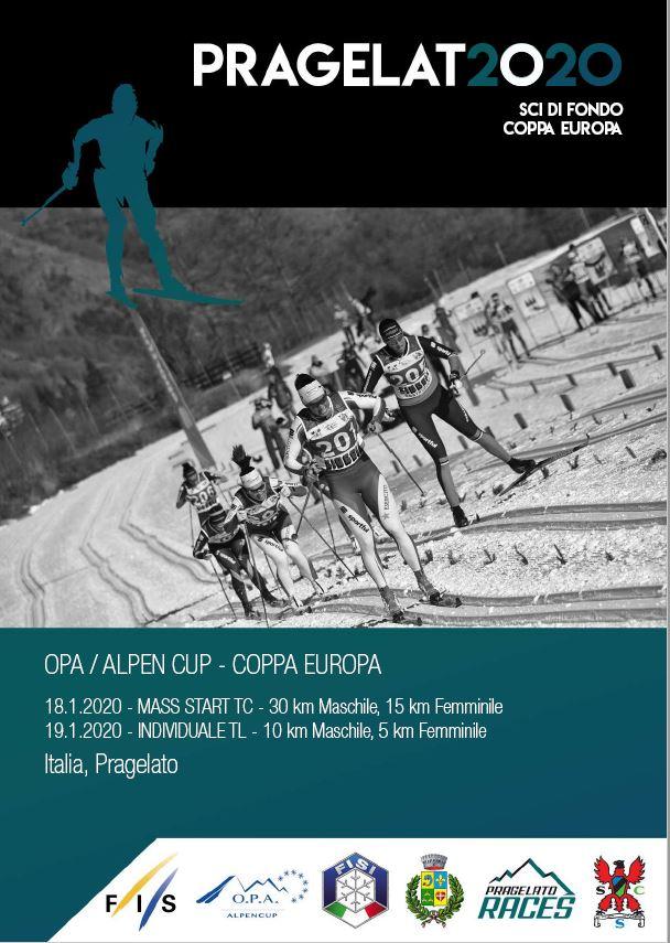 Locandina della Opa Alpen Cup o Coppa Europa a Pragelato